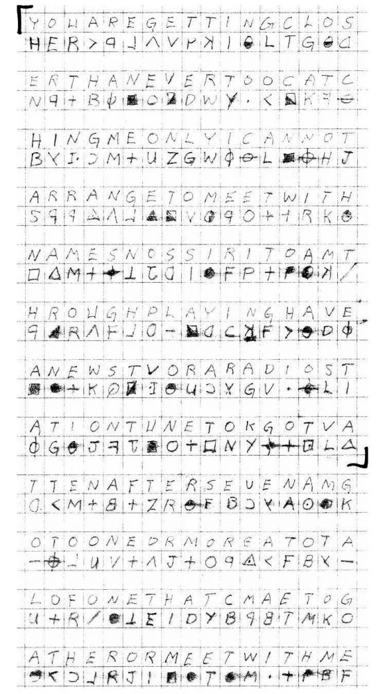 The 340 Cipher Dead Ends Zodiac Killer Facts Separating Fact