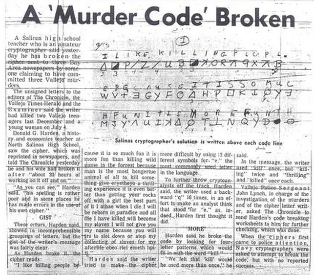 article analysis of criminal codes and ciphers