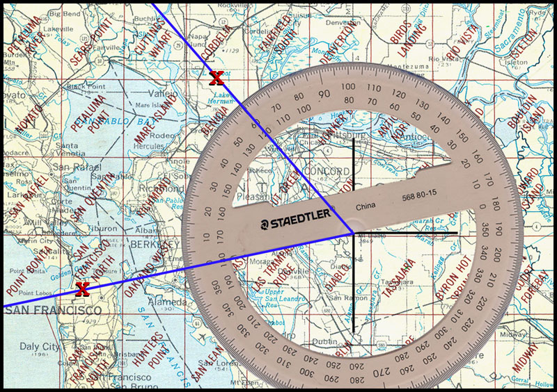 USGS Map w protractor crime scenes 60 degrees