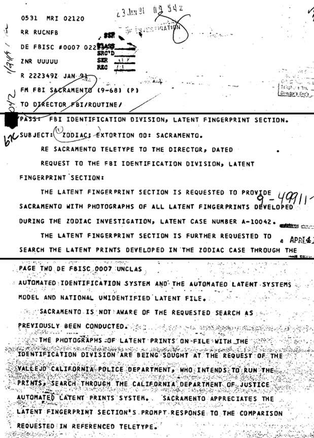 Zodiac-FBI-Latent-Prints-Check-Jan-23-1991